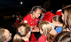 Claire Emslie of Bristol City Women signs autographs - Mandatory by-line: Robbie Stephenson/JMP - 10/09/2016 - FOOTBALL - Stoke Gifford Stadium - Bristol, England - Bristol City Women v Watford Ladies - FA Women's Super League 2