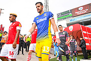 Leeds United goalkeeper Francisco Casilla (13) enters the pitch during the EFL Sky Bet Championship match between Barnsley and Leeds United at Oakwell, Barnsley, England on 15 September 2019.