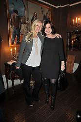 Left to right, JENNY HALPERN-PRINCE and EMMA FORBES at a party to celebrate the publication of her new book - Kelly Hoppen: Ideas, held at Beach Blanket Babylon, 45 Ledbury Road, London W11 on 4th April 2011.