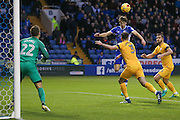 Sheffield Wednesday midfielder, on loan from Sunderland, Will Buckley (38)  misses from six yards out during the EFL Sky Bet Championship match between Sheffield Wednesday and Preston North End at Hillsborough, Sheffield, England on 3 December 2016. Photo by Simon Davies.