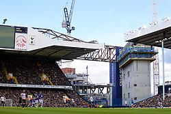 LONDON, ENGLAND - Sunday, March 5, 2017: Construction cranes above Tottenham Hotspur's White Hart Lane as the clubs new stadium us built. (Pic by David Rawcliffe/Propaganda)