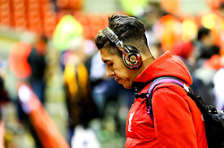 Roberto Firmino of Liverpool arrives at Anfield wearing Beats by Dr Dre headphones - Mandatory byline: Matt McNulty/JMP - 02/03/2016 - FOOTBALL - Anfield - Liverpool, England - Liverpool v Manchester City - Barclays Premier League