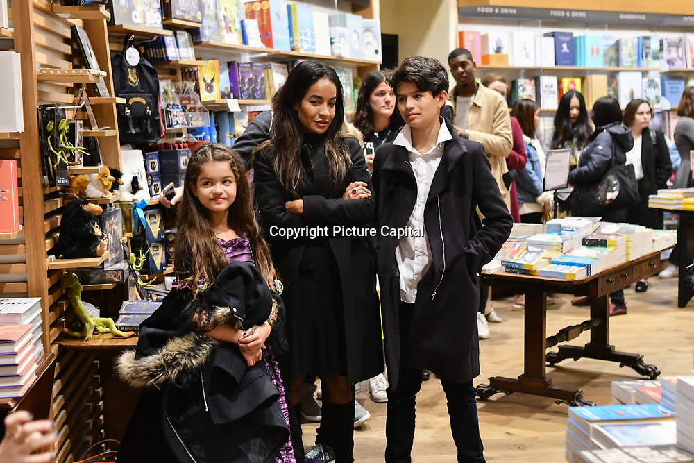 Bookworm attends Waterstones Piccadilly hosting a midnight launch to celebrate publication of the latest Fantastic Beasts screenplay on Thursday, 15th November 2018, London, UK.