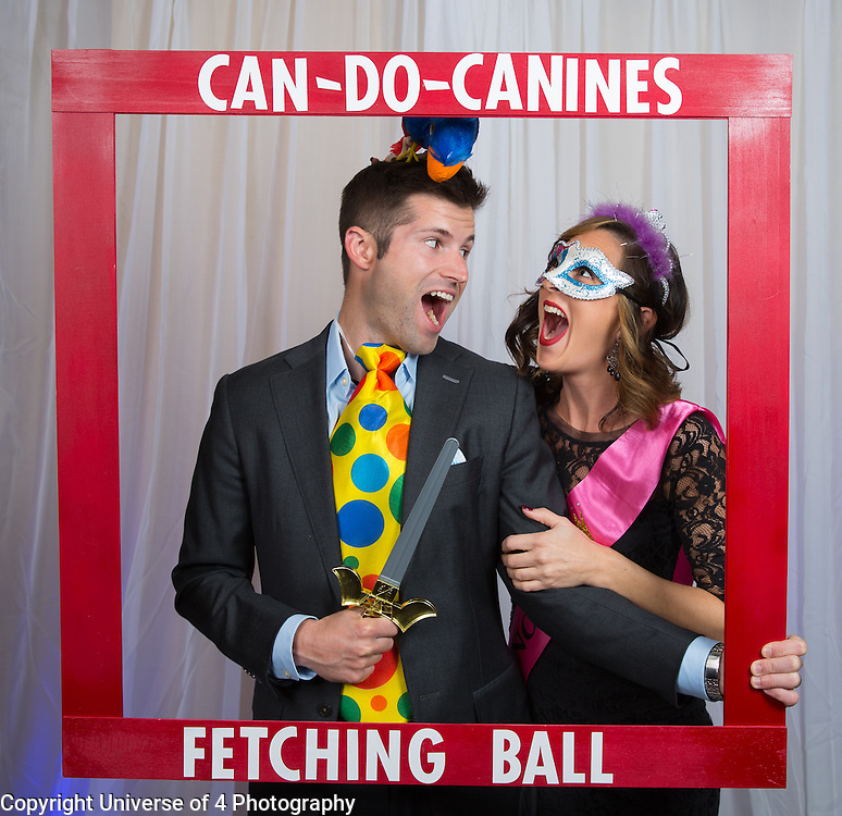 Photo booth fun and the Fetching Ball fundraiser for Can DO Canines.