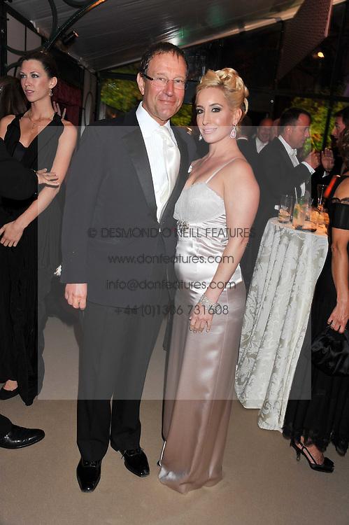 RICHARD DESMOND and JOY CANFIELD at the Raisa Gorbachev Foundation Gala held at the Stud House, Hampton Court, Surrey on 22nd September 22 2011