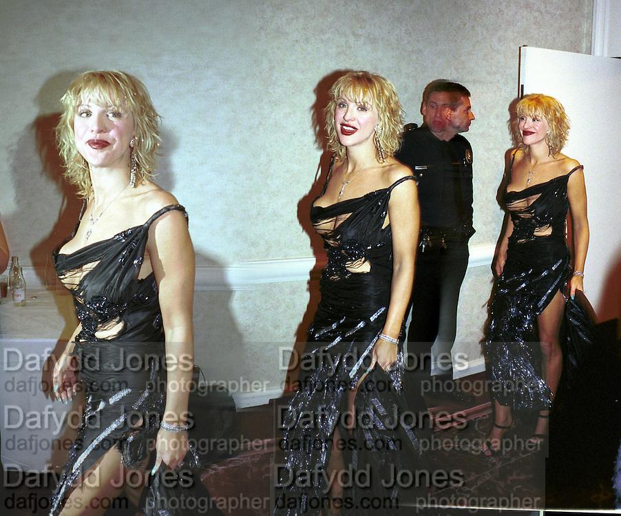 Courtney Love, Golden Globes. Beverley Hilton Hotel. Los Angeles. 23/1/99© Copyright Photograph by Dafydd Jones<br /> 66 Stockwell Park Rd. London SW9 0DA<br /> Tel 0171 733 0108. www.dafjones.com