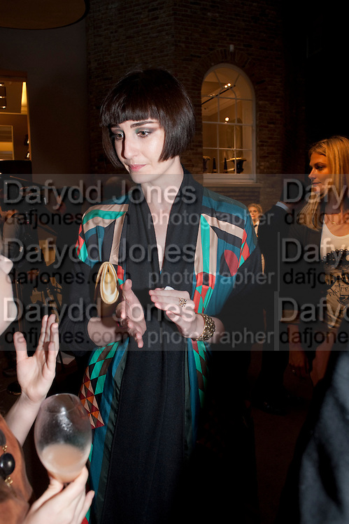 ERIN O'CONNOR,  Vogue Fashion night out.- Alexandra Shulman and Paddy Byng are host a party  to celebrate the launch for FashionÕs Night Out At Asprey. Bond St and afterwards in the street. London. 8 September 2011. <br />  <br />  , -DO NOT ARCHIVE-© Copyright Photograph by Dafydd Jones. 248 Clapham Rd. London SW9 0PZ. Tel 0207 820 0771. www.dafjones.com.<br /> ERIN O'CONNOR,  Vogue Fashion night out.- Alexandra Shulman and Paddy Byng are host a party  to celebrate the launch for Fashion's Night Out At Asprey. Bond St and afterwards in the street. London. 8 September 2011. <br />  <br />  , -DO NOT ARCHIVE-© Copyright Photograph by Dafydd Jones. 248 Clapham Rd. London SW9 0PZ. Tel 0207 820 0771. www.dafjones.com.