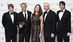 Robert Wade, director Sam Mendes, Barbara Broccoli, Michael G. Wilson and Neal Purvis (L-R) pose in the Press Room of the BAFTA British Academy Film Awards 2013 at the Royal Opera House in London, Britain, Sunday February 10, 2013. Photo by Imago / i-Images. UK ONLY..