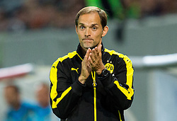 Thomas Tuchel, head coach of Borussia Dortmund during football match between WAC Wolfsberg (AUT) and  Borussia Dortmund (GER) in First leg of Third qualifying round of UEFA Europa League 2015/16, on July 30, 2015 in Wörthersee Stadion, Klagenfurt, Austria. Photo by Vid Ponikvar / Sportida