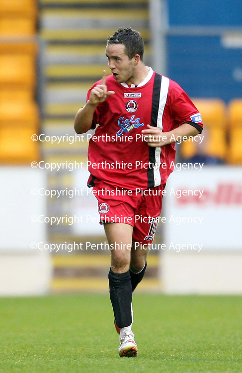 St Johnstone v Clyde....27.10.07<br /> Dougie Imrie celebrates making it 1-0<br /> Picture by Graeme Hart.<br /> Copyright Perthshire Picture Agency<br /> Tel: 01738 623350  Mobile: 07990 594431