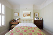 Master bedroom from a contemporary refurbishment of a Victorian terrace house at 74 Ulverscroft Road, East Dulwich, London, England. Designed by Jo Houchell & architect Oliver Houchell, 2008