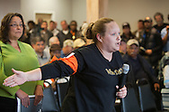 Shannon Aucion from Barataria wants to know how she can prove to Feinberg that the fish she normaly catches, Drumfish no longer are in the Gulf. Ken Feinberg,  administrator of the BP Oil Spill Victim Compensation Fund at a town hall meeting Lafitte Louisiana  returns to listen and take questions from those effected by the BP oil disaster.