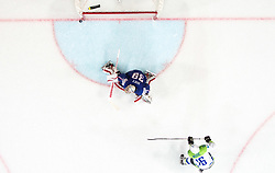 Ales Music of Slovenia missing penalty shot against Cristobal Huet of France during the 2017 IIHF Men's World Championship group B Ice hockey match between National Teams of France and Slovenia, on May 15, 2017 in AccorHotels Arena in Paris, France. Photo by Vid Ponikvar / Sportida