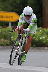 26.06.2015, Einhausen, GER, Deutsche Strassen Meisterschaften, im Bild Sonja Ludwig (RFC Freilauf Rossbach) // during the German Road Championships at Einhausen, Germany on 2015/06/26. EXPA Pictures © 2015, PhotoCredit: EXPA/ Eibner-Pressefoto/ Bermel<br /> <br /> *****ATTENTION - OUT of GER*****