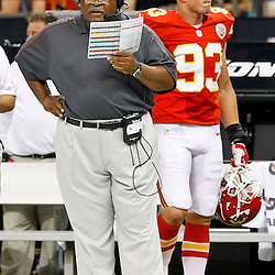 September 23, 2012; New Orleans, LA, USA; Kansas City Chiefs head coach Romeo Crennel during the second quarter of a game against the New Orleans Saints at the Mercedes-Benz Superdome. Mandatory Credit: Derick E. Hingle-US PRESSWIRE