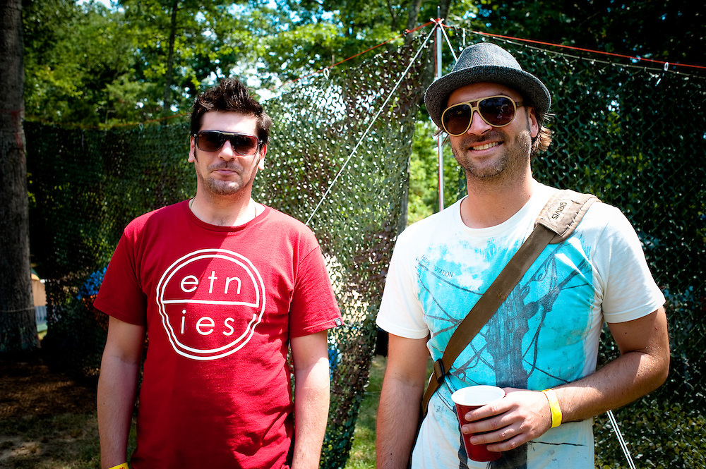 Thomas and Ingo of the Ancient Astronauts, ready for a long day of music!