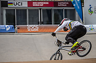 #215 (MCLEAN Joshua) AUS at Round 2 of the 2020 UCI BMX Supercross World Cup in Shepparton, Australia.