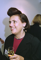 Fashion writer SUZY MENKES at a party in London on 26th September 1997.<br /> MBR 3