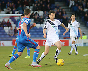 Dundee&rsquo;s Paul McGinn and Inverness&rsquo; Iain Vigurs - Inverness Caledonian Thistle v Dundee at Caledonian Stadium, Inverness<br /> <br />  - &copy; David Young - www.davidyoungphoto.co.uk - email: davidyoungphoto@gmail.com