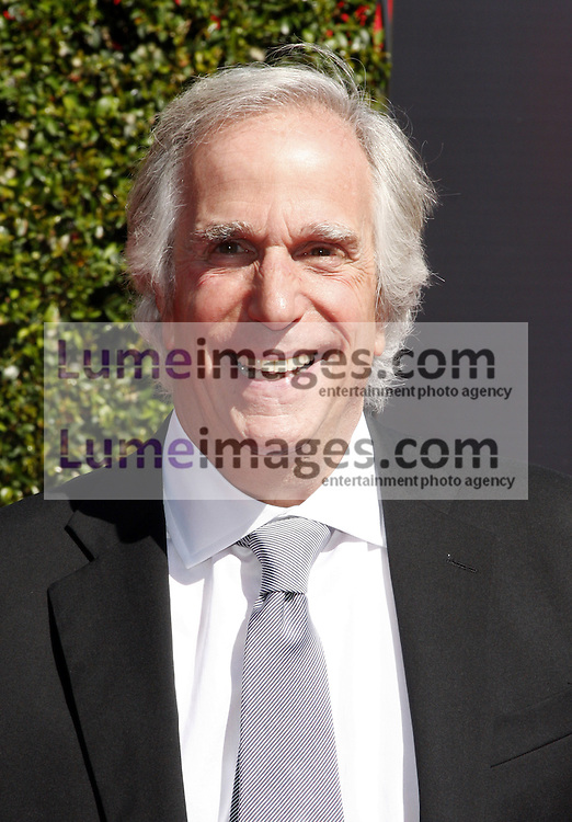 Henry Winkler at the 2014 Creative Arts Emmy Awards held at the Nokia Theatre L.A. Live in Los Angeles, USA on August 16, 2014.