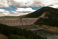 Libby Dam, Lake Koocanusa, Kootenai River, Lake Koocanusa Scenic Byway, Kootenai National Forest, northwestern Montana