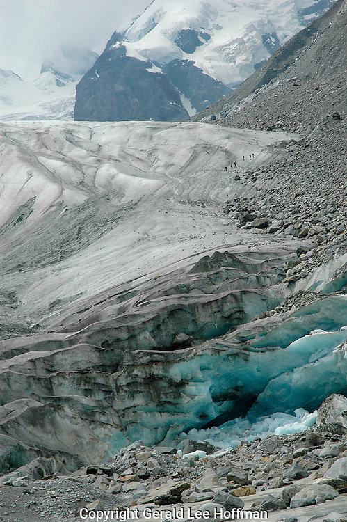 Striking blue of Glacier