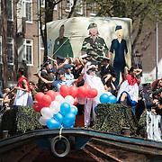 NLD/Amsterdam//20170805 - Gay Pride 2017, Boot Ministerie van Defensie