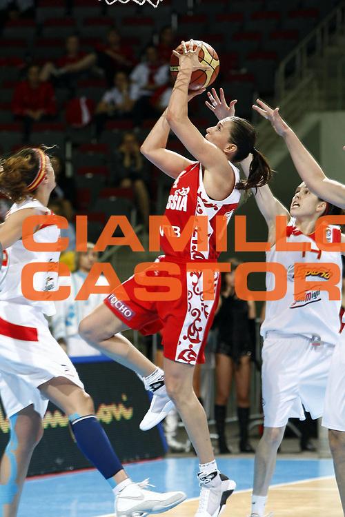 DESCRIZIONE : Riga Latvia Lettonia Eurobasket Women 2009 Semifinal Spagna Russia Spain Russia<br /> GIOCATORE : Svetlana Abrosimova<br /> SQUADRA : Russia Russia<br /> EVENTO : Eurobasket Women 2009 Campionati Europei Donne 2009 <br /> GARA : Spagna Russia Spain Russia<br /> DATA : 19/06/2009 <br /> CATEGORIA : tiro<br /> SPORT : Pallacanestro <br /> AUTORE : Agenzia Ciamillo-Castoria/E.Castoria<br /> Galleria : Eurobasket Women 2009 <br /> Fotonotizia : Riga Latvia Lettonia Eurobasket Women 2009 Semifinal Spagna Russia Spain Russia<br /> Predefinita :