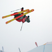 Jossi Wells, New Zealand, in action during the Freeski Halfpipe event at the Winter Games at Cardrona, Wanaka, New Zealand. 17th August 2011. Photo Tim Clayton...