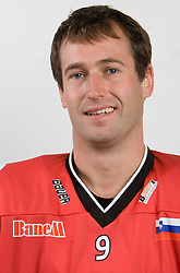 Tomaz Razingar at HK Acroni Jesenice Team roaster for 2009-2010 season,  on September 03, 2009, in Arena Podmezaklja, Jesenice, Slovenia.  (Photo by Vid Ponikvar / Sportida)
