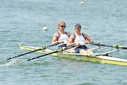 Caversham, Great Britain.  GBR W2X, bow. Anna WATKINS [BEBINGTON] and Katherine GRAINGER. GB Rowing media day, GB Rowing Training Centre, Caversham. Tuesday,  18/05/2010 [Mandatory Credit. Peter Spurrier/Intersport Images]
