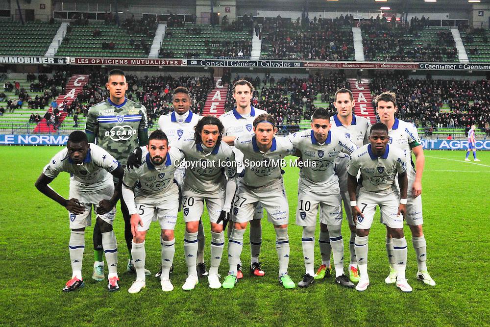 Equipe Bastia - 20.12.2014 - Caen / Bastia - 19eme journee de Ligue 1 <br /> Photo : Philippe Le Brech / Icon Sport