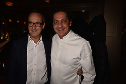 Left to right, David Loewi of D&D London and Francesco Mazei at the launch of Fiume at Battersea Power Station, Battersea, London England. 16 November 2017.<br /> Photo by Dominic O'Neill/SilverHub 0203 174 1069 sales@silverhubmedia.com