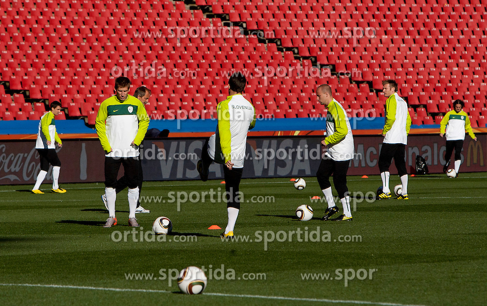 Training session at  Ellis Park Stadium on June 17, 2010 in Johannesburg, South Africa.  (Photo by Vid Ponikvar / Sportida)
