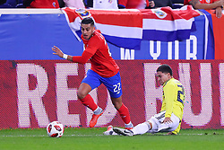October 16, 2018 - Harrison, NJ, U.S. - HARRISON, NJ - OCTOBER 16:  Costa Rica defender Ronald Matarrita (22) during  the International Friendly Soccer Game between Colombia and Costa Rica on October 16, 2018 at Red Bull Arena in Harrison, NJ.  (Photo by Rich Graessle/Icon Sportswire) (Credit Image: © Rich Graessle/Icon SMI via ZUMA Press)