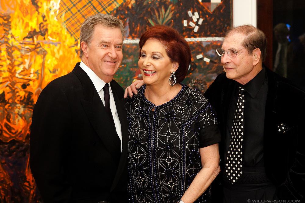 Hugh Davies with Iris and Matthew Strauss.