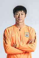 **EXCLUSIVE**Portrait of Chinese soccer player Han Rongze of Shandong Luneng Taishan F.C. for the 2018 Chinese Football Association Super League, in Ji'nan city, east China's Shandong province, 24 February 2018.