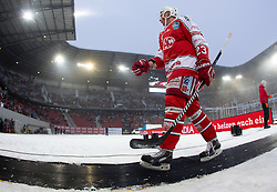 03.01.2015, Klagenfurter Wörthersee Stadion, Klagenfurt, AUT, EBEL, EC KAC vs EC VSV, 35. Runde, in picture Micheal Siklenka (EC KAC, 23) during the Erste Bank Icehockey League 35. Round between EC KAC and EC VSV at the Klagenfurter Wörthersee Stadion, Klagenfurt, Austria on 2015/01/03. Photo by Matic Klansek Velej / Sportida