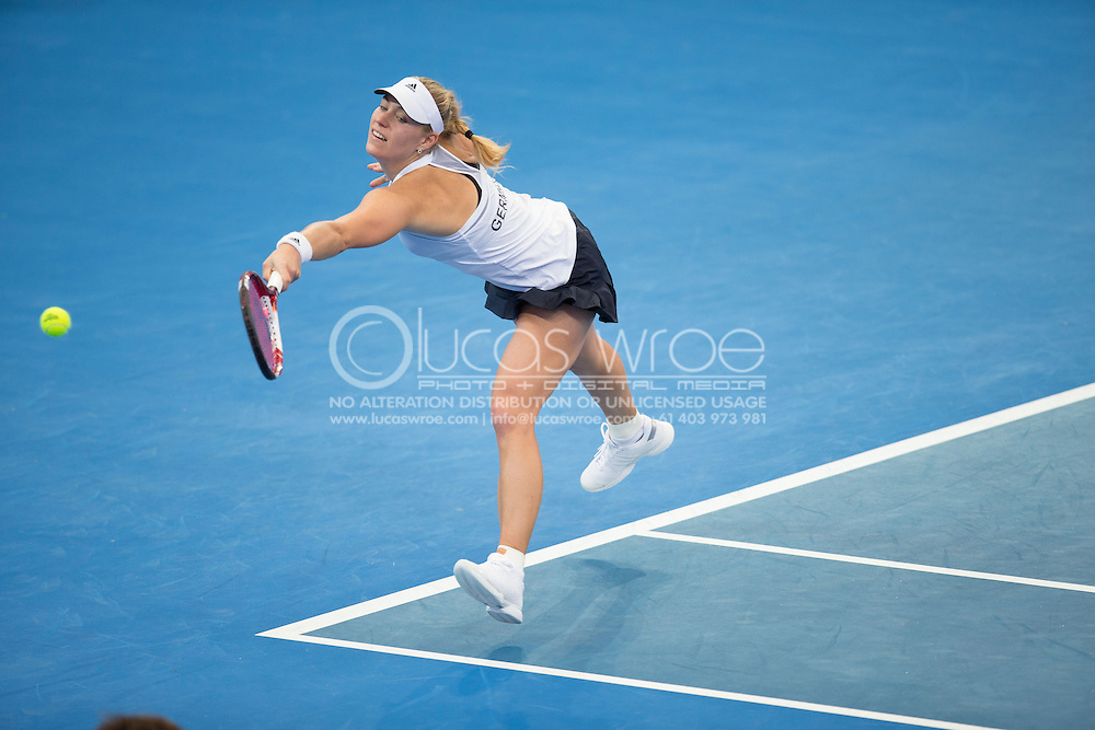 Angelique Kerber (GER), April 20, 2014 - TENNIS : Fed Cup, Semi-Final, Australia v Germany. Pat Rafter Arena, Brisbane, Queensland, Australia. Credit: Lucas Wroe