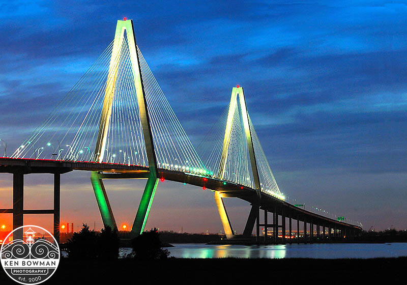 Ravenel Bridge sunset from Mt. Pleasant #2