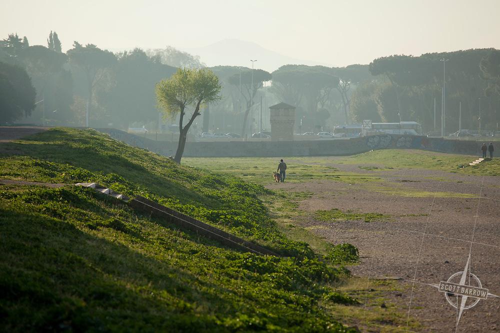 Circus Maximus in Rome, Italy.