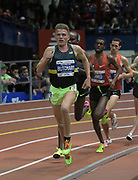 Feb 11, 2017; New York, NY, USA; Andrew Butchart (GBR) places third in the two miles in 8:12.63 during the 110th Millrose Games at The Armory.