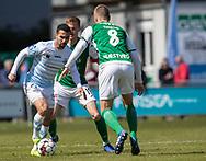 FODBOLD: Osama Akharraz (FC Helsingør) under kampen i NordicBet Ligaen mellem FC Helsingør og Næstved Boldklub den 12. maj 2019 på Helsingør Stadion. Foto: Claus Birch