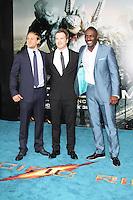 Charlie Hunnam; Robert Kazinsky; Idris Elba, Pacific Rim European Film Premiere, BFI IMAX Waterloo, London UK, 04 July 2013, (Photo by Richard Goldschmidt)