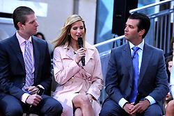 21.04.2016, Rockefeller Plaza, New York, USA, NBC Show, Today, Trump, im Bild Eric Trump, Ivanka Trump und Donald Trump Jr. // during the NBC Show 'Today' at the Rockefeller Plaza in New York, United States on 2016/04/21. EXPA Pictures &copy; 2016, PhotoCredit: EXPA/ Newspix/ Dennis Van Tine<br /> <br /> *****ATTENTION - for AUT, SLO, CRO, SRB, BIH, MAZ, TUR, SUI, SWE only*****