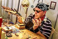 Glass bead maker, Venice, Italy