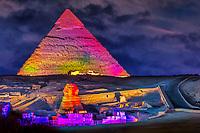 Da die Sphinx einen liegenden Löwen darstellt, der einen Menschenkopf hat, wird noch heute gerätselt, was die Sphinx darstellt und wozu sie diente. Alleine die Größe der Sphinx von 73,5 Meter und 6 Meter breit und 20 Meter hoch, lässt eine große Bedeutung vermuten.