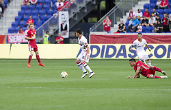 September 22, 2018 - Harrison, New Jersey, United States - Marco Delgado (18) of Toronto FC controls ball during regular MLS game against New York Red Bulls at Red Bull Arena Red Bulls won 2 - 0 (Credit Image: © Lev Radin/Pacific Press via ZUMA Wire)