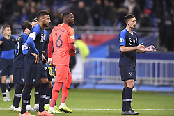 November 14, 2019, Saint Denis, FRANCE: 16 STEVE MANDANDA (FRA) - 05 CLEMENT LENGLET (FRA) - FAIR PLAY (Credit Image: © Panoramic via ZUMA Press)