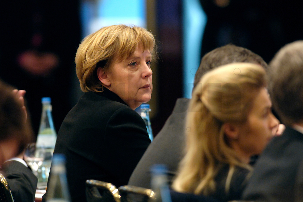 20 FEB 2006, BERLIN/GERMANY:<br /> Angela Merkel, CDU Bundesvorsitzende und Bundeskanzlerin, Bundesausschuss und Wertekonferenz der CDU unter dem Motto Neue Gerechtigkeit durch mehr Freiheit, Hotel Maritim<br /> IMAGE: 20060220-01-022